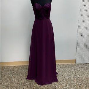 Mori Lee eggplant formal dress. Size 12.